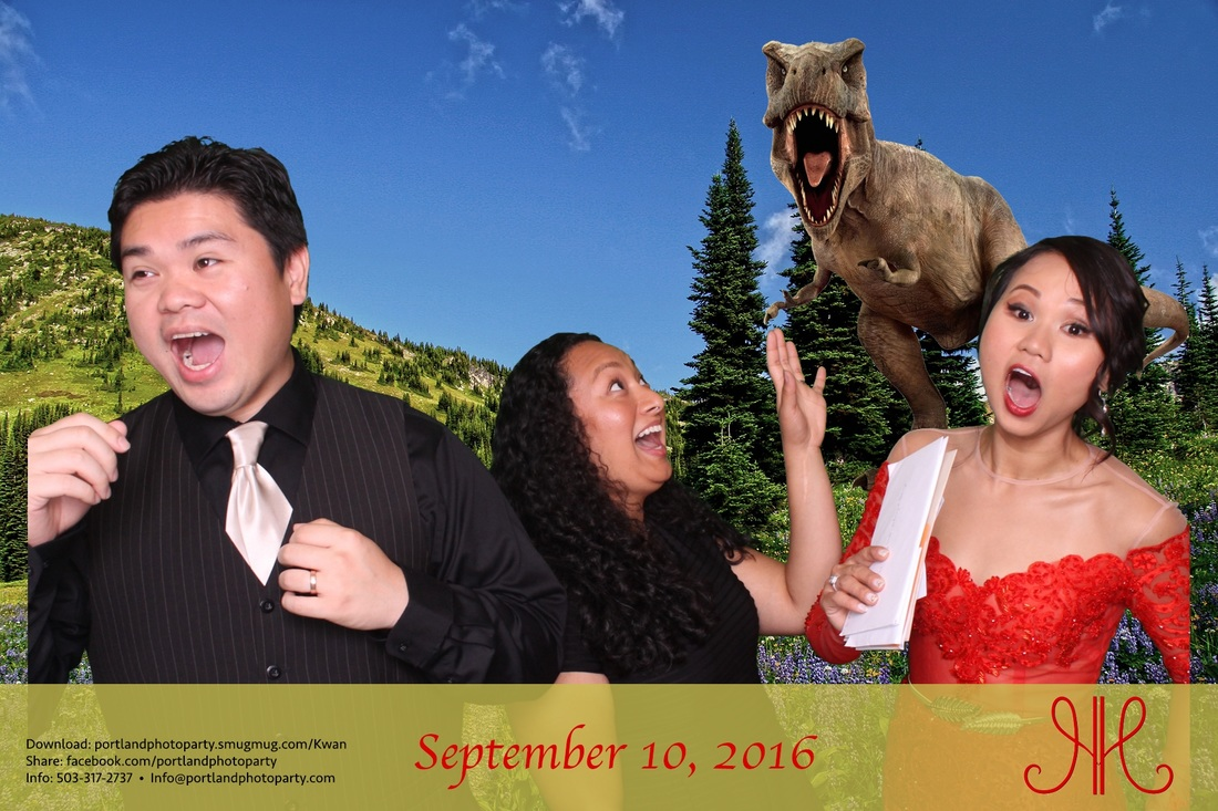Empress Estate Portland oregon photo booth photobooth wedding green screen