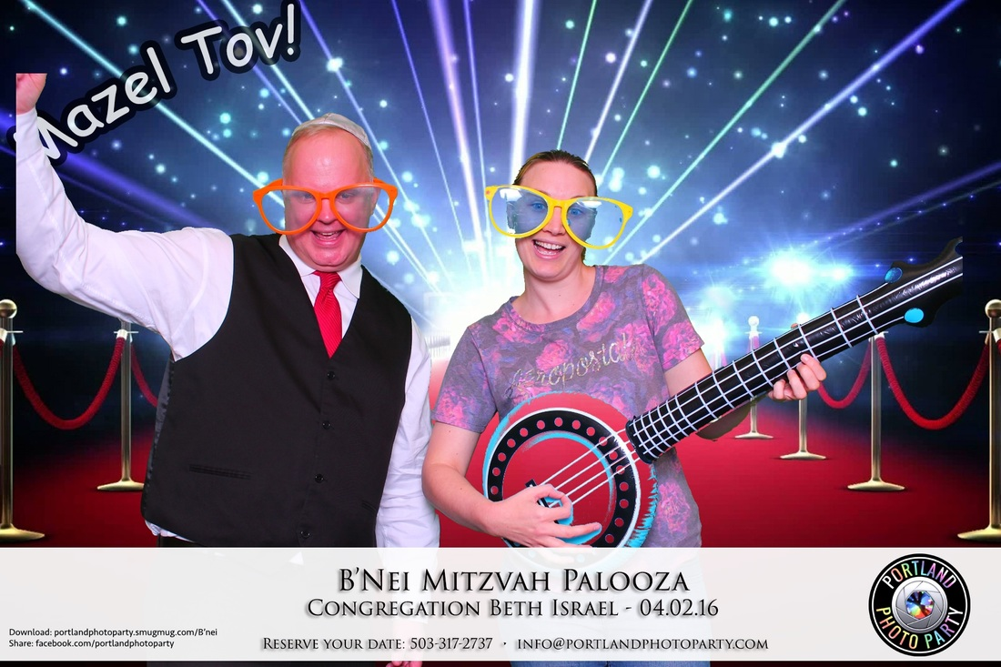 Portland oregon photo booth photobooth corporate event green screen Bar Mitzvah Bat Mitzvah Beth Israel